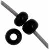 Czech Seedbead 11/0 Black Opaque